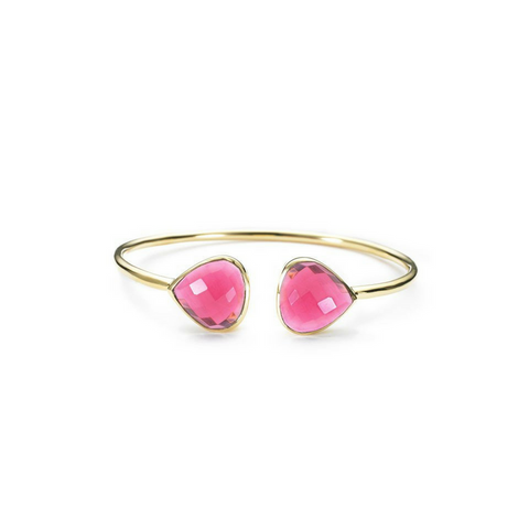 ME - Teardrop Bangle - Fuschia