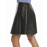 Rachel Skirt - Black Leather