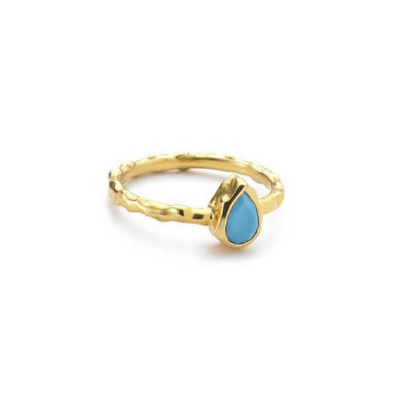 Pear Stacking Ring - Turquoise