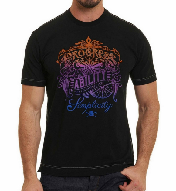 Robert Graham Black Progress Tee