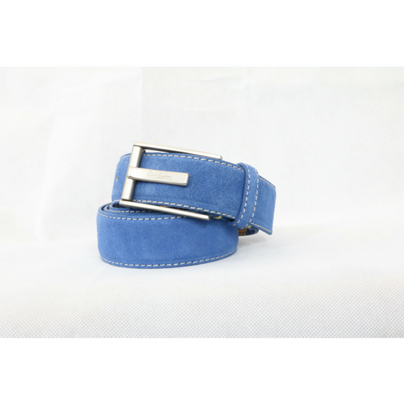 Robert Graham Blue Suede Riverside Belt