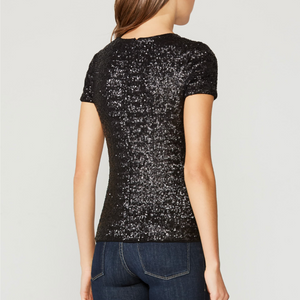 Bailey 44 - Celebration Sequined Top - Black
