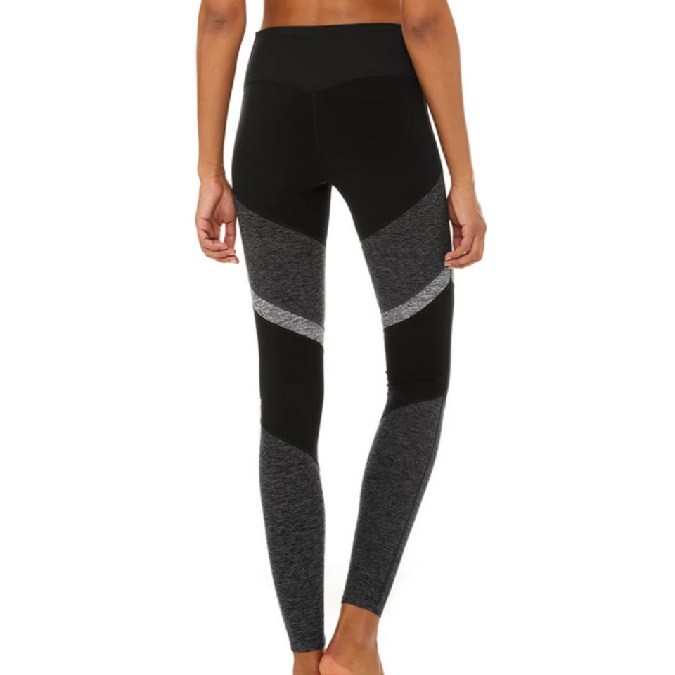 Alo Yoga - Black/Grey Sheila Alo Soft Legging