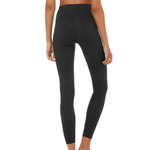 Load image into Gallery viewer, Alo Yoga - Black 7/8 High-Waist Channel Legging