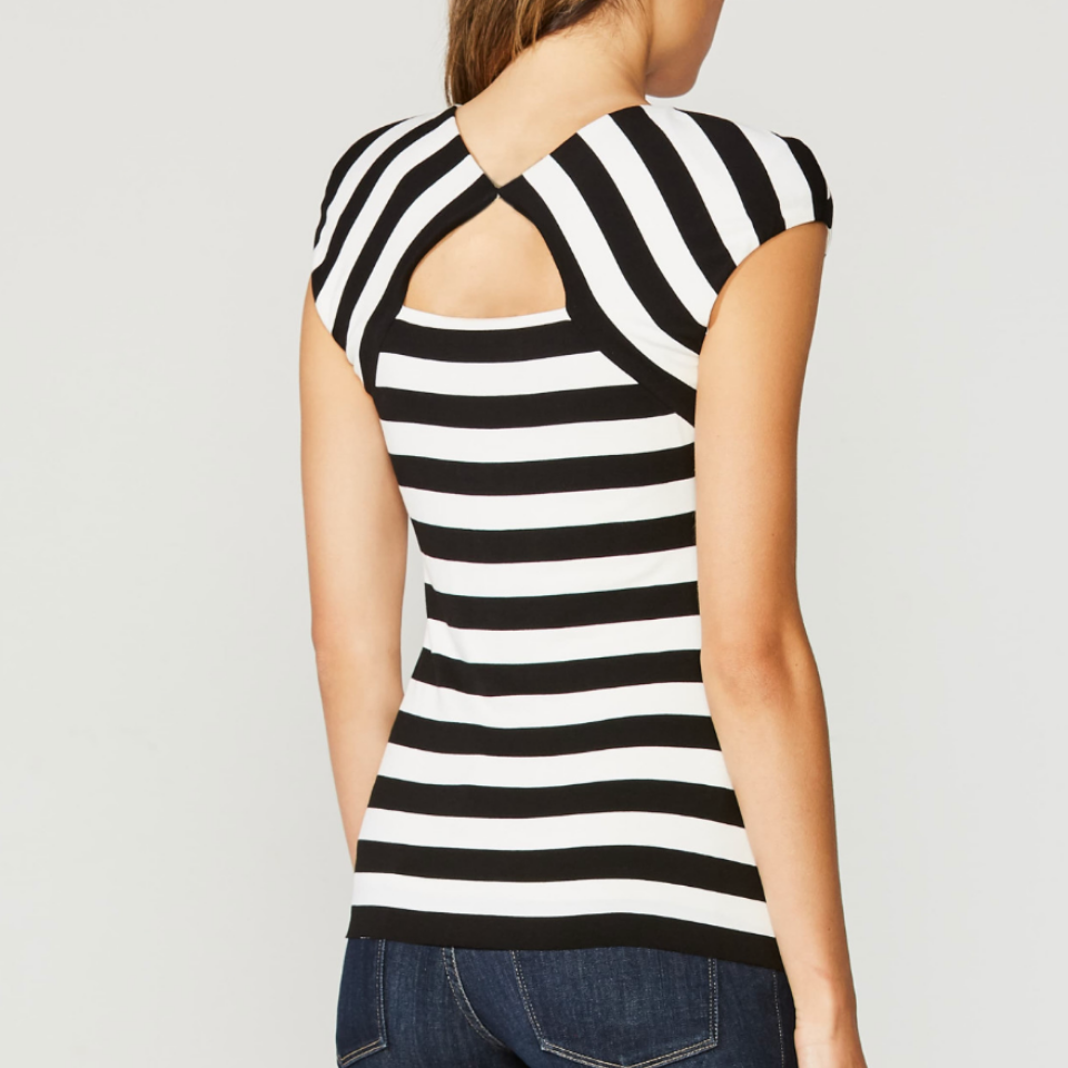 Bailey 44 - Love Train Stripe Top - Black/White