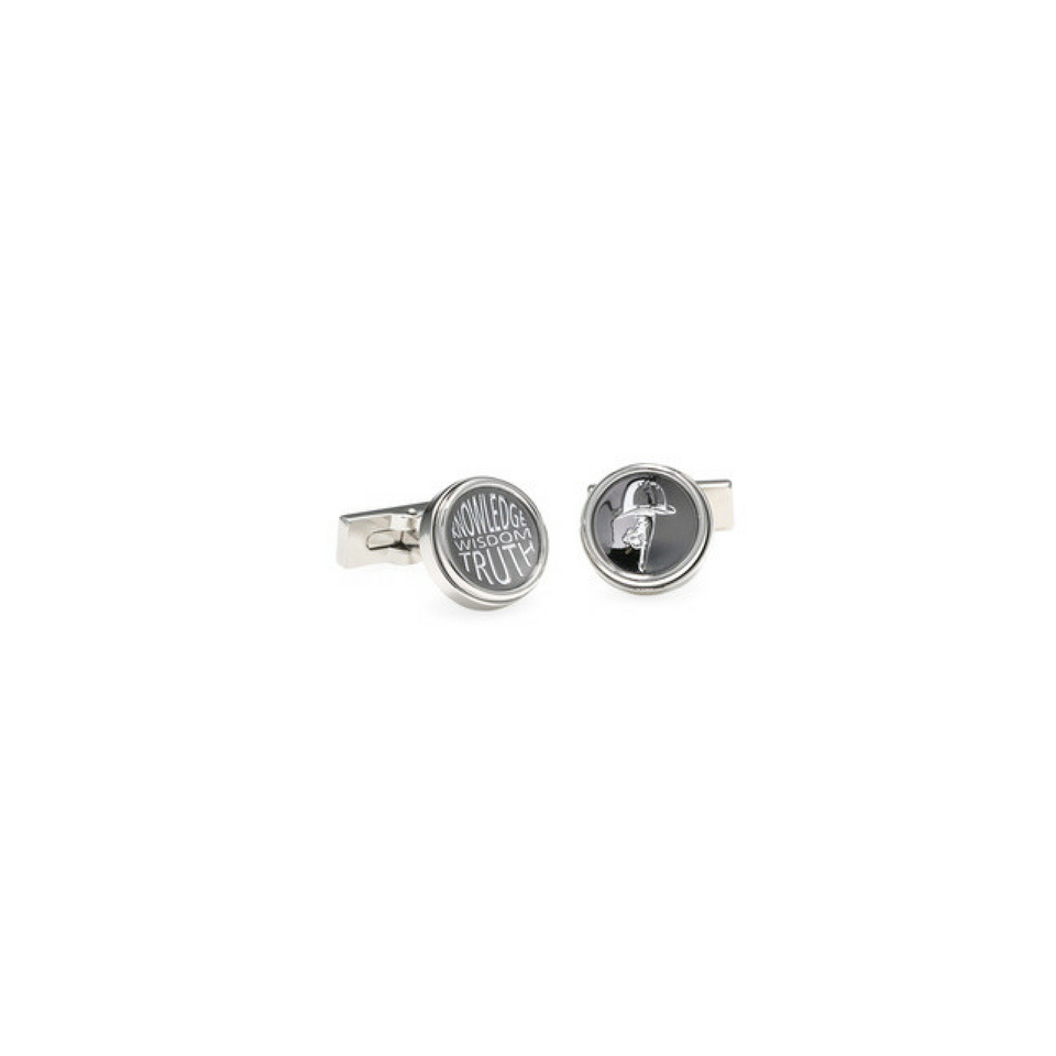 Silver Knowledge, Wisdom, Truth Cufflink
