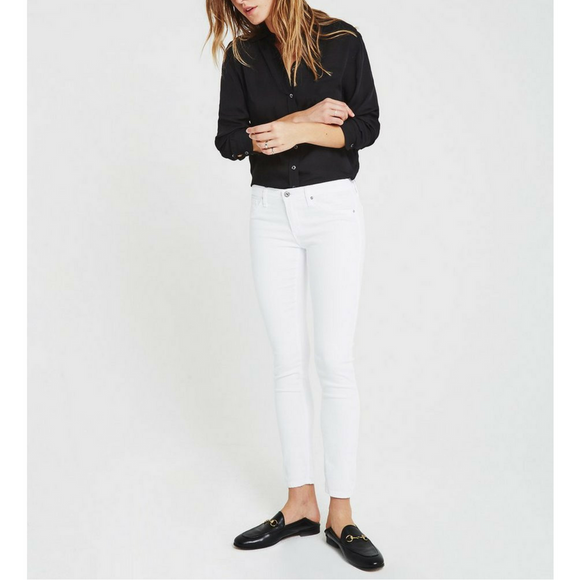 AG White The Legging Ankle Pant