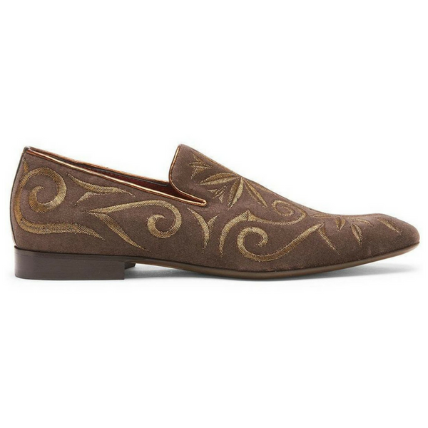Donald J. Pliner Brown Palazo Loafer