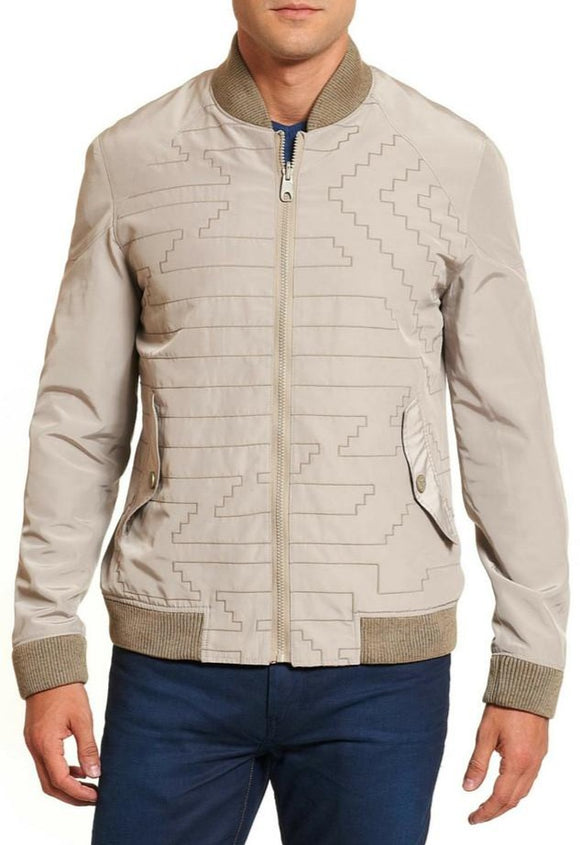 Robert Graham Orange & Beige Reversible Claystone Jacket