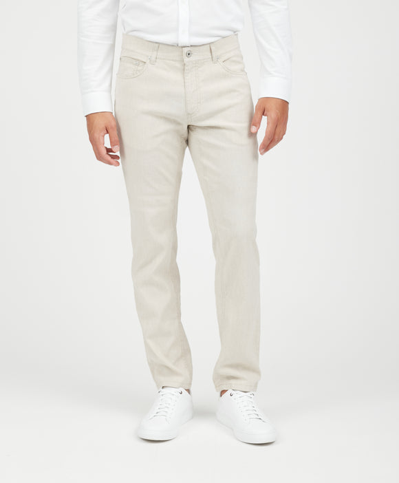 Brax Beige Chuck Linen & Cotton Pants