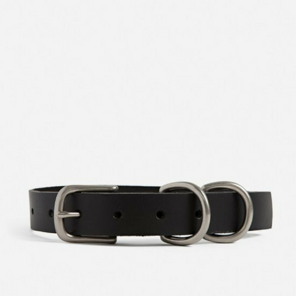 Moore & Giles Black Large Dog Collar