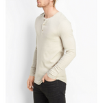 Load image into Gallery viewer, Vince - Rib Knit Henley - Heather Dark Stone