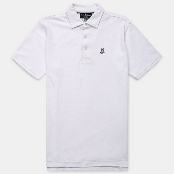 Self Collar Polo - White
