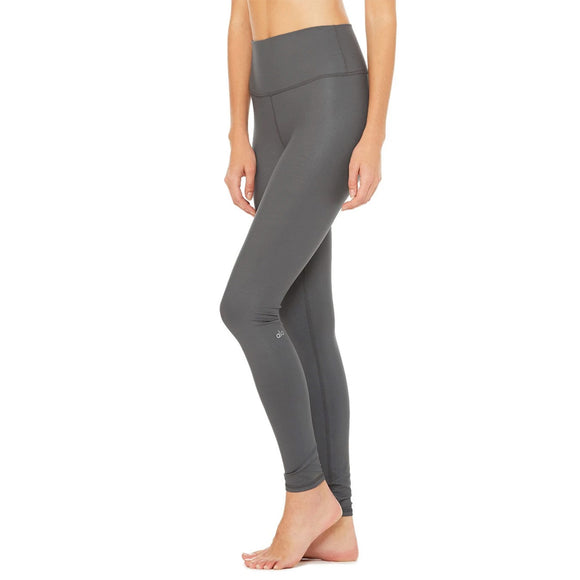 Alo Yoga High-Waist Airbrush Legging in Anthracite