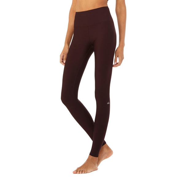 Alo Yoga High-Waist Airlift Legging in Oxblood