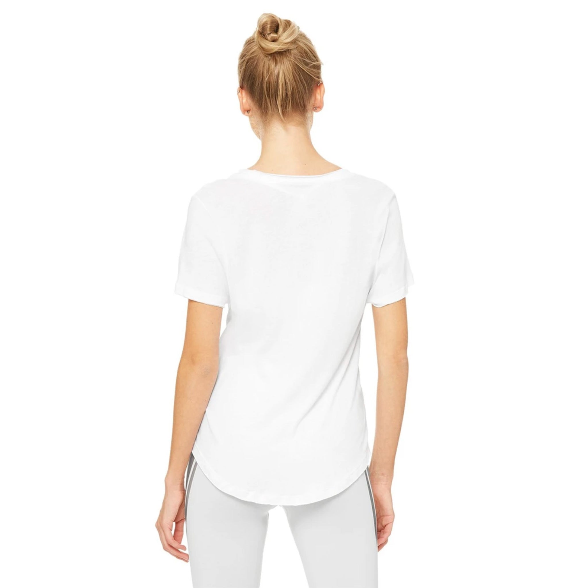 Alo Yoga Playa Tee Shirt in White backside