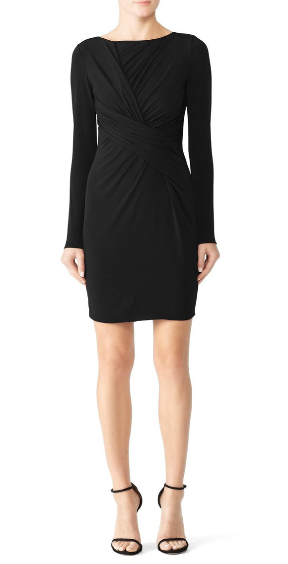 Bailey 44 Black Clandenstine Draped Dress