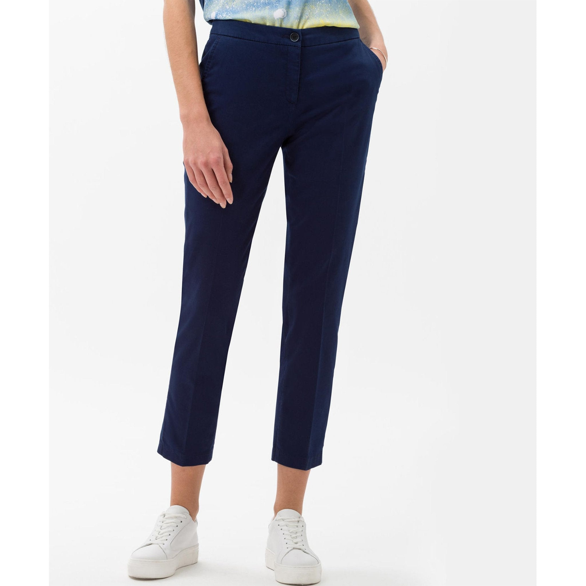 Brax - Maron Slim, Pull On, Cropped Pant (Indigo)