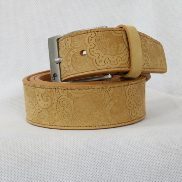 Robert Graham Natural Leather Vanguard Belt