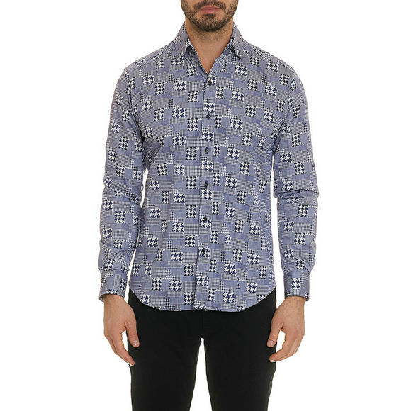 Robert Graham Blue Barrick Sport Shirt