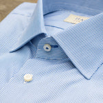 Load image into Gallery viewer, Hagen Blue Hairline Stripe Dress Shirt