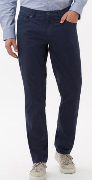 BRAX CADIZ Ocean Blue Tritone Five-Pocket Pant