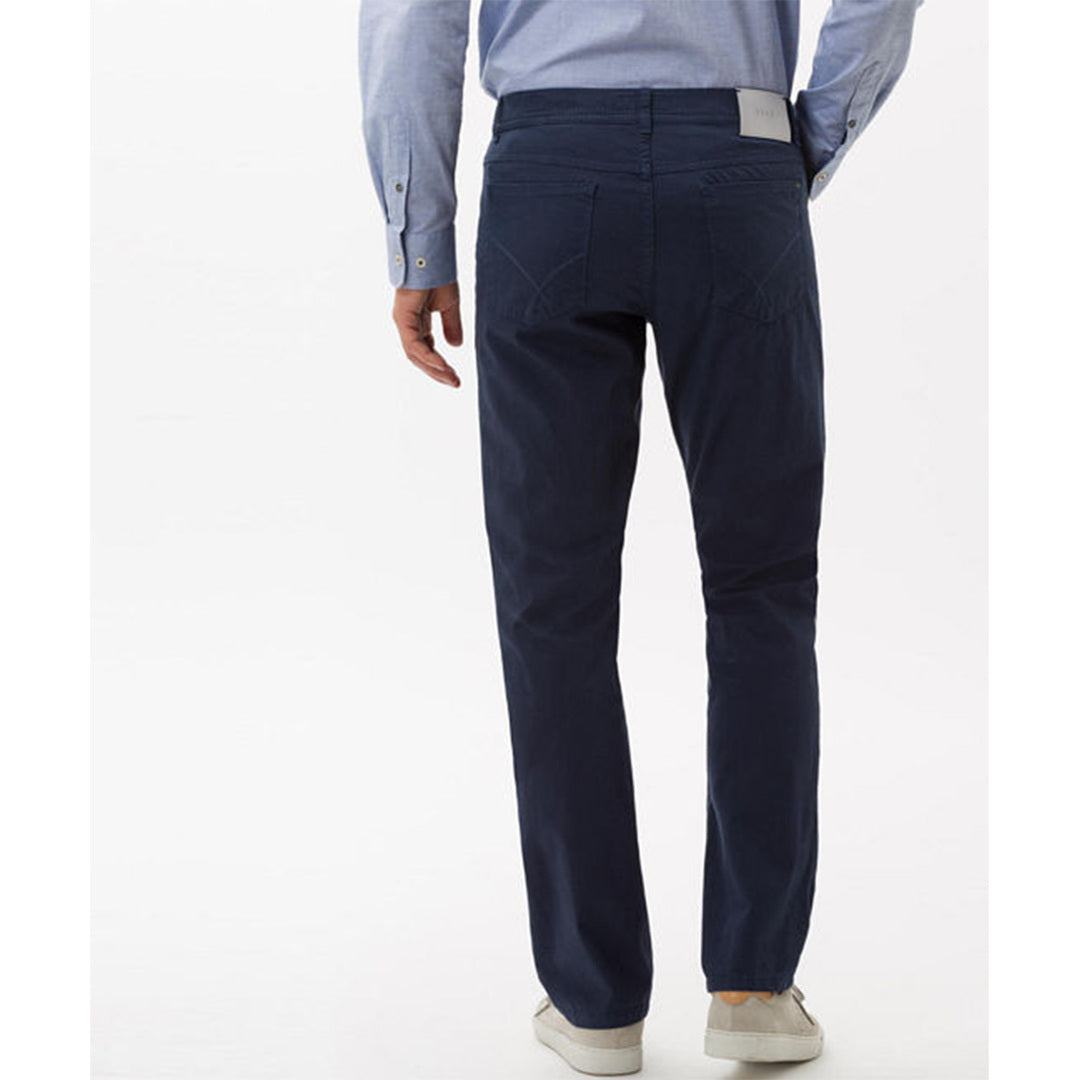 Brax - CADIZ Ocean Blue Tritone Five-Pocket Pant