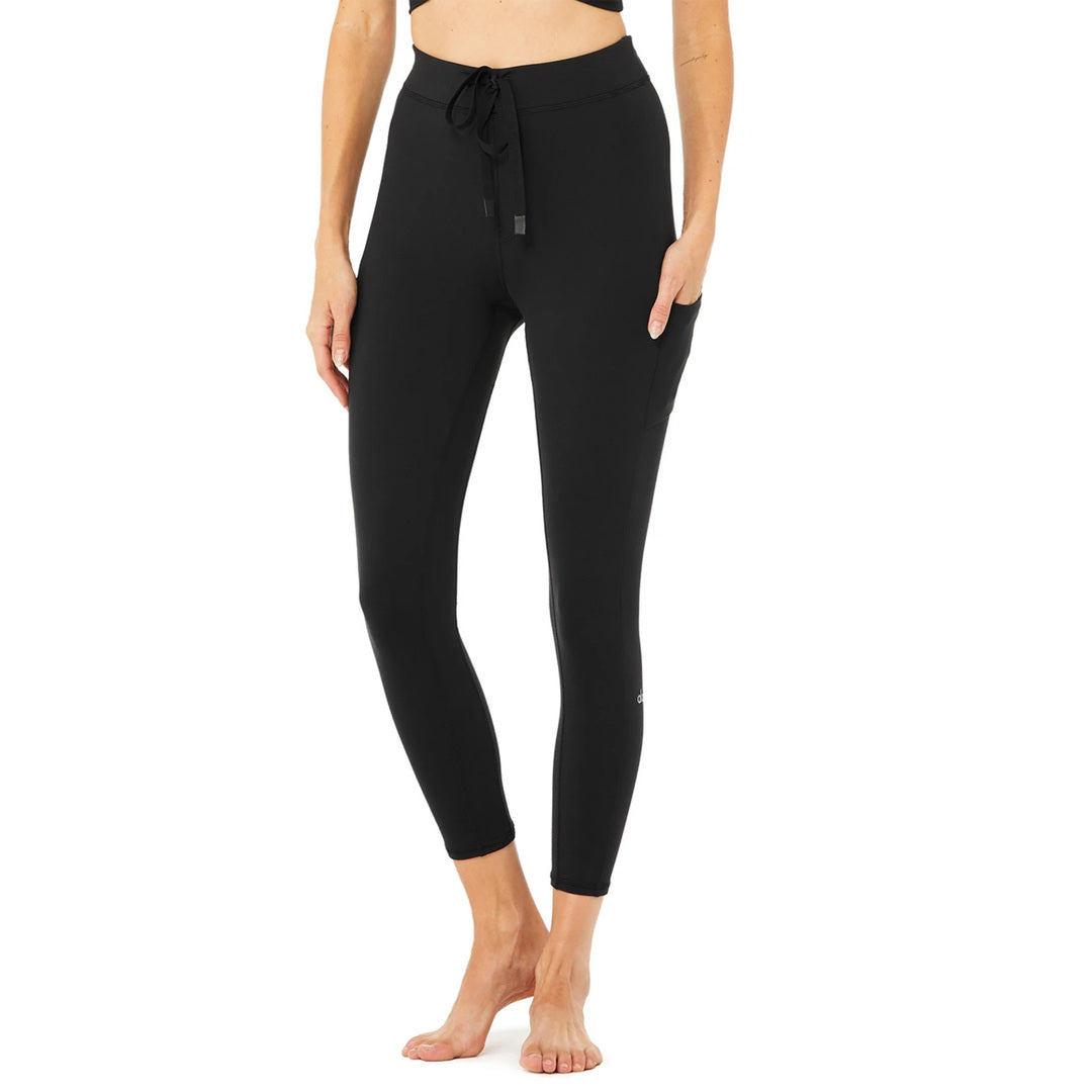 Alo Yoga Black 7/8 High Waist Checkpoint Legging