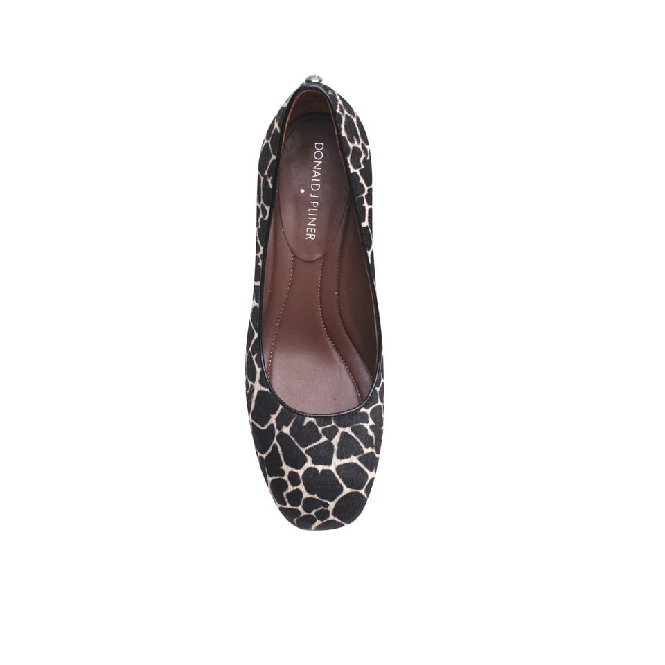 Donald J Pliner - Corin - Black & White Giraffe Pump with Block Heel
