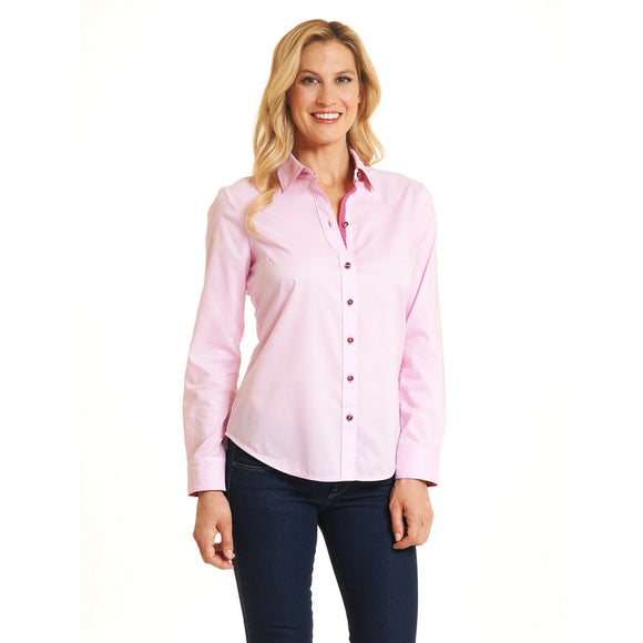 Robert Graham Pink For The Cure Shirt