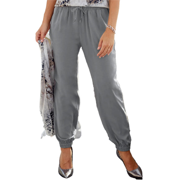 GO Silk Go Golden Parachute Pant in Smoke Style P359