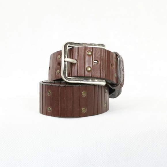 Robert Graham -  Howell - Brown Leather Belt, Size 32