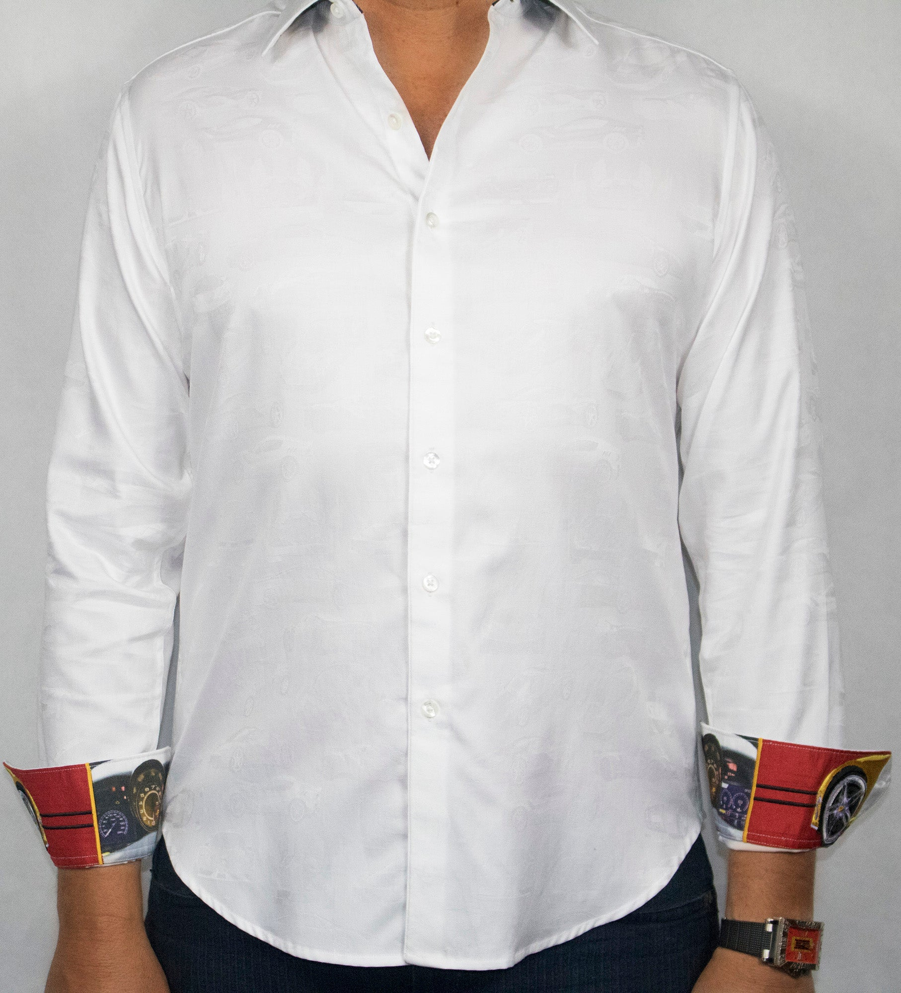 Robert Graham 2019 White The Seal Sport Shirt, made exclusively for The Club Carmel