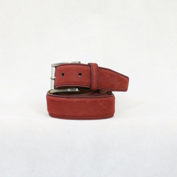 Robert Graham Red Leather Laurel Belt