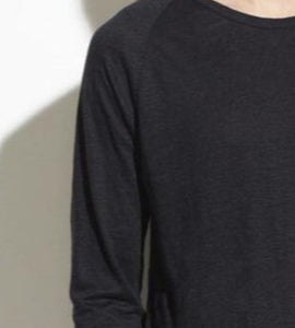 Vince Black Long Sleeve Crew Neck Tee