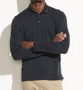 Vince Light Coastal Long Sleeve Polo