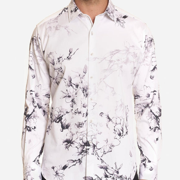 Robert Graham White Aiden Sport Shirt