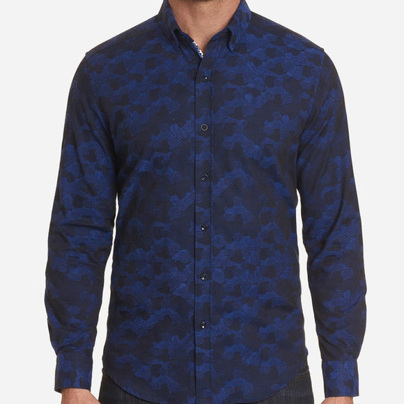 Robert Graham Dark Blue Banfield Sport Shirt