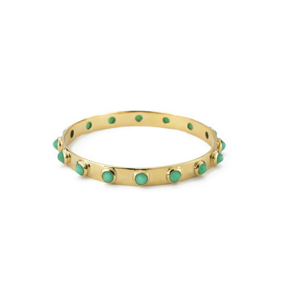 16 Stone Bangle - Chrysoprase