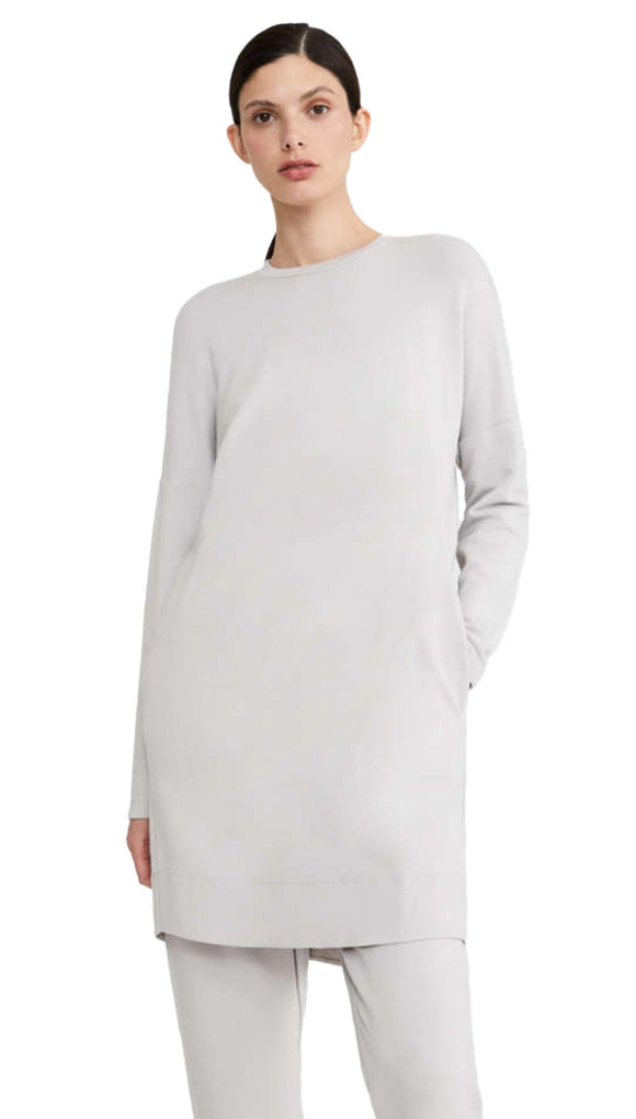 Max Mara Light Grey Udito Viscose Dress, with pockets, front view