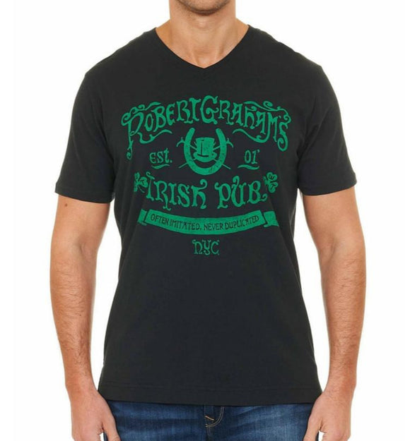 Robert Graham Black Pub Tee