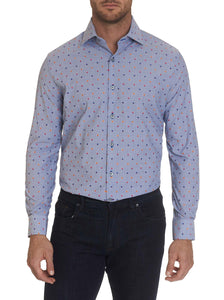 Robert Graham Blue Prichard Dress Shirt