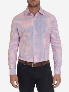 Robert Graham Pink Kodiak White Dress Shirt