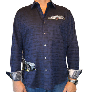 Robert Graham 2020 Dark Navy Denton Sport Shirt