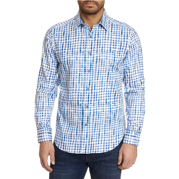 Robert Graham Blue Andres Sport Shirt