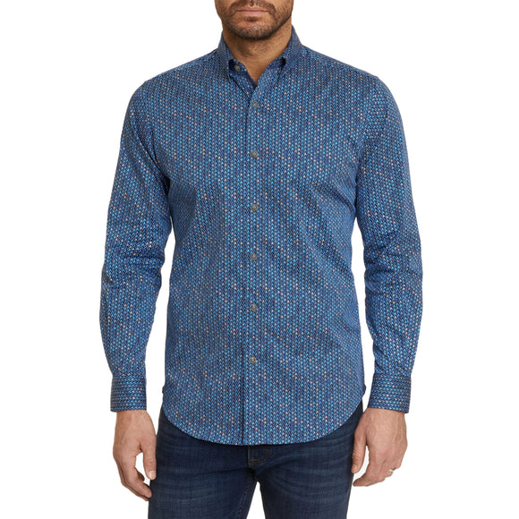 Robert Graham Blue Barnett Sport Shirt