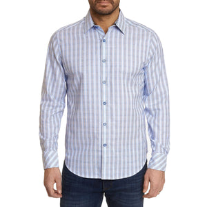 Robert Graham Grey Illusionist Sport Shirt