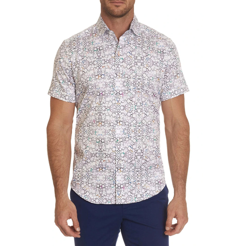 Robert Graham Caldwell Short Sleeve Tailored Fit Shirt