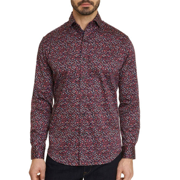 Robert Graham Dark Red Santana Sport Shirt