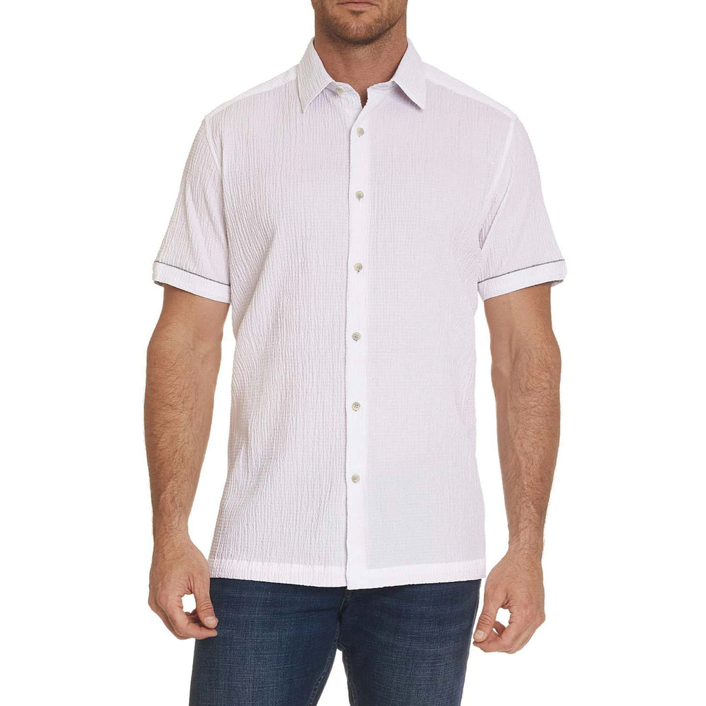Robert Graham Mimosa, a white Short Sleeve Shirt